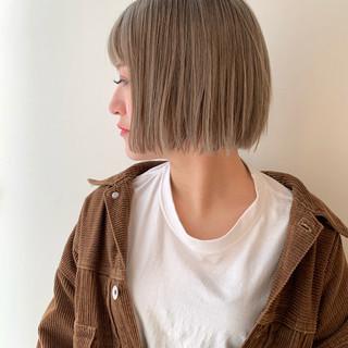 イルミナカラー ミルクティーベージュ ミルクティーグレージュ ヘアカラー ヘアスタイルや髪型の写真・画像