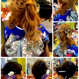ロング 成人式 アップスタイル ヘアアレンジ ヘアスタイルや髪型の写真・画像