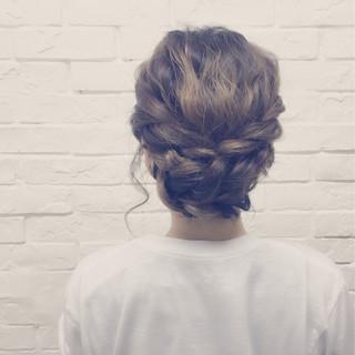夏 ショート セミロング ヘアアレンジ ヘアスタイルや髪型の写真・画像