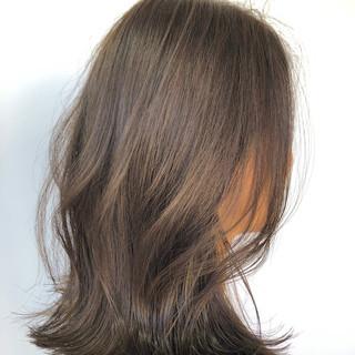 切りっぱなしボブ イルミナカラー ナチュラル 艶髪 ヘアスタイルや髪型の写真・画像