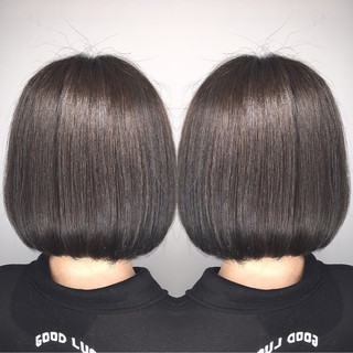 透明感 オフィス ハイライト 秋 ヘアスタイルや髪型の写真・画像