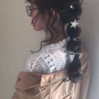 ロング アッシュグレージュ アッシュ ヘアアレンジ ヘアスタイルや髪型の写真・画像