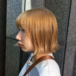 ブリーチ 外国人風カラー ハイトーン モード ヘアスタイルや髪型の写真・画像