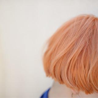 ストリート ショート イエロー ブリーチ ヘアスタイルや髪型の写真・画像