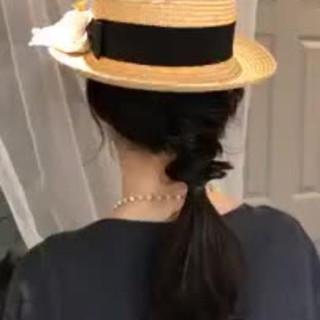 デート ロング アウトドア 大人かわいい ヘアスタイルや髪型の写真・画像