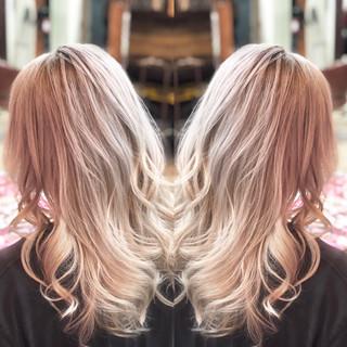 外国人風 外国人風カラー ミディアム ストリート ヘアスタイルや髪型の写真・画像