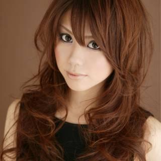 丸顔 卵型 モテ髪 大人かわいい ヘアスタイルや髪型の写真・画像