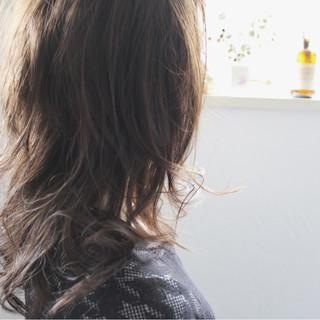 ゆるふわ ロング ナチュラル 小顔 ヘアスタイルや髪型の写真・画像