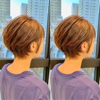 小顔ショート スタイリング動画 ナチュラル 簡単スタイリング ヘアスタイルや髪型の写真・画像