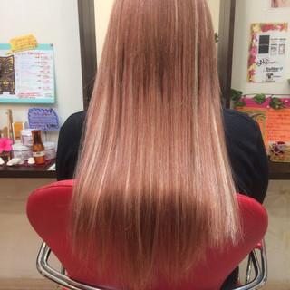 エクステ メッシュ ハイトーン ロング ヘアスタイルや髪型の写真・画像