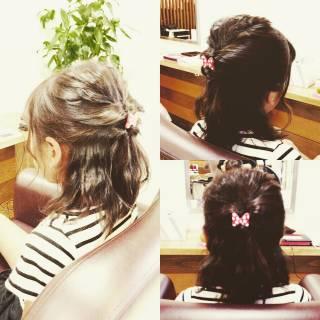 ヘアアレンジ ハーフアップ 簡単ヘアアレンジ ガーリー ヘアスタイルや髪型の写真・画像 ヘアスタイルや髪型の写真・画像