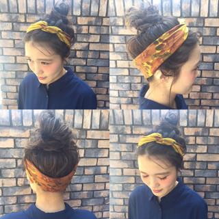 ヘアアレンジ ピュア アッシュ ナチュラル ヘアスタイルや髪型の写真・画像 ヘアスタイルや髪型の写真・画像