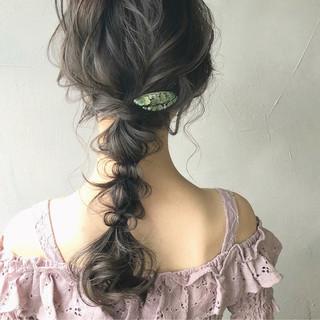 セミロング ヘアアレンジ 結婚式 大人かわいい ヘアスタイルや髪型の写真・画像