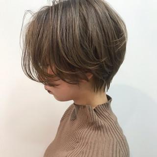 ベリーショート コンサバ ショートバング ハンサムショート ヘアスタイルや髪型の写真・画像
