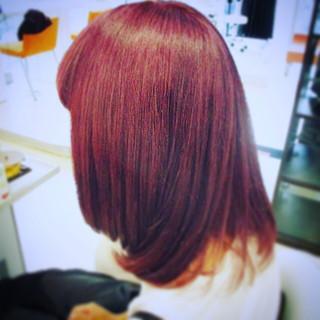イルミナカラー バイオレットアッシュ ミディアム ストリート ヘアスタイルや髪型の写真・画像