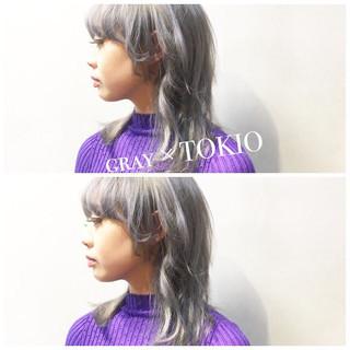 ラベンダーピンク TOKIOトリートメント グレージュ アッシュグレージュ ヘアスタイルや髪型の写真・画像