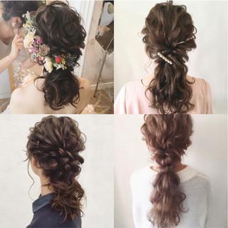 パーティ エレガント 大人かわいい 結婚式 ヘアスタイルや髪型の写真・画像
