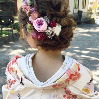 結婚式ヘアアレンジ ヘアアレンジ おしゃれさんと繋がりたい 大人かわいい ヘアスタイルや髪型の写真・画像