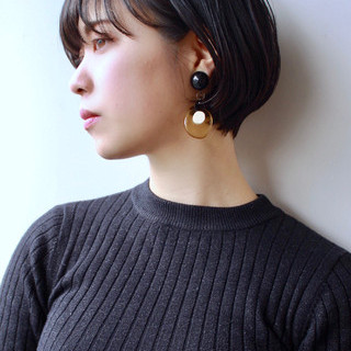 ショートヘア 黒髪ショート ベリーショート ナチュラル ヘアスタイルや髪型の写真・画像