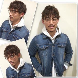 黒髪 ボーイッシュ パーマ メンズ ヘアスタイルや髪型の写真・画像