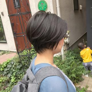 ショートボブ ミニボブ 小顔ショート 前下がりボブ ヘアスタイルや髪型の写真・画像