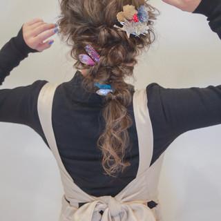 ヘアアレンジ 結婚式 フェミニン 卒業式 ヘアスタイルや髪型の写真・画像