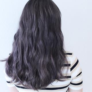 ロング ブリーチ ストリート ダブルカラー ヘアスタイルや髪型の写真・画像