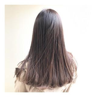 ストレート 艶髪 ナチュラル 透明感カラー ヘアスタイルや髪型の写真・画像