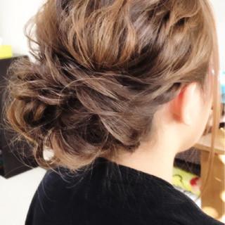 パーティ 大人女子 結婚式 ミディアム ヘアスタイルや髪型の写真・画像