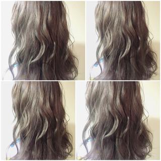 暗髪 ブラウン ミディアム ストリート ヘアスタイルや髪型の写真・画像