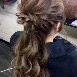 ロング 外国人風 ヘアセット ヘアカラー ヘアスタイルや髪型の写真・画像