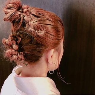 ヘアアレンジ セミロング 謝恩会 成人式 ヘアスタイルや髪型の写真・画像