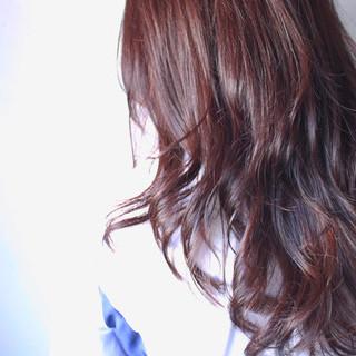 ナチュラル ハイライト ロング カッパー ヘアスタイルや髪型の写真・画像