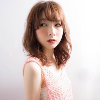 ピュア ミディアム 大人かわいい フェミニン ヘアスタイルや髪型の写真・画像