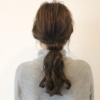 ニュアンス ナチュラル こなれ感 小顔 ヘアスタイルや髪型の写真・画像