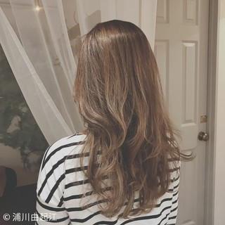 ロング 大人かわいい デート 外国人風カラー ヘアスタイルや髪型の写真・画像