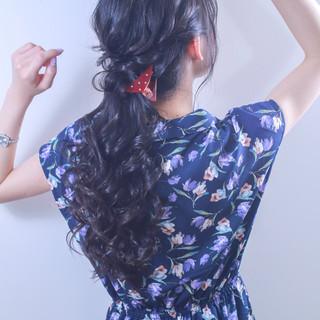 デート ガーリー 結婚式 簡単ヘアアレンジ ヘアスタイルや髪型の写真・画像