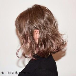 ボブ フリンジバング ナチュラル 外国人風 ヘアスタイルや髪型の写真・画像