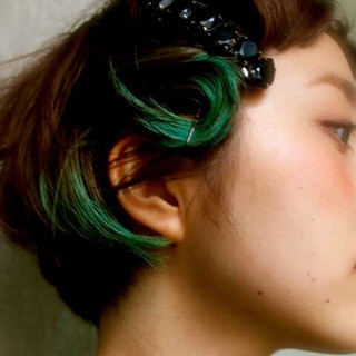 グラデーションカラー 暗髪 大人かわいい 黒髪 ヘアスタイルや髪型の写真・画像