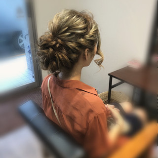 ヘアアレンジ アップスタイル フェミニン 成人式 ヘアスタイルや髪型の写真・画像