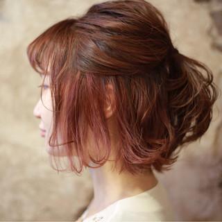 ベージュ グラデーションカラー ボブ モード ヘアスタイルや髪型の写真・画像