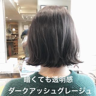 ブルージュ グレージュ パーマ ボブ ヘアスタイルや髪型の写真・画像