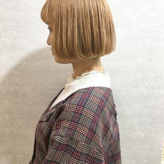 透明感カラー 外国人風カラー ボブ ハイトーンカラー ヘアスタイルや髪型の写真・画像