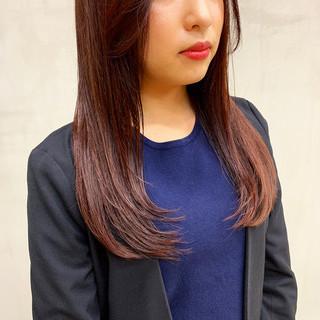 ベリーピンク 外国人風カラー ナチュラル ロング ヘアスタイルや髪型の写真・画像 ヘアスタイルや髪型の写真・画像