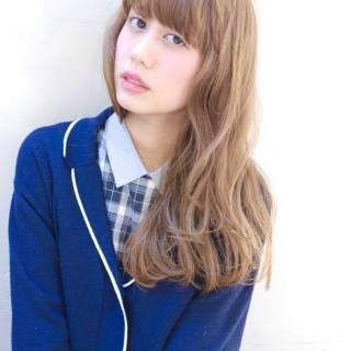外国人風 モード ロング 外国人風カラー ヘアスタイルや髪型の写真・画像