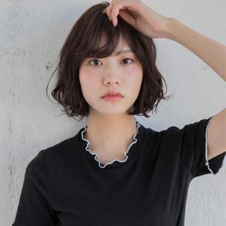 エフォートレス グレージュ 大人かわいい 黒髪 ヘアスタイルや髪型の写真・画像