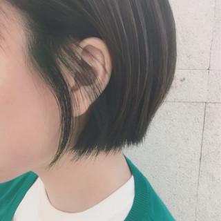 ハイライト ショートボブ ボブ ストリート ヘアスタイルや髪型の写真・画像