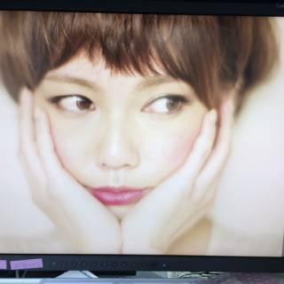 ショート ガーリー 前髪パッツン 丸顔 ヘアスタイルや髪型の写真・画像
