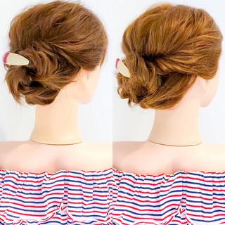 上品 エレガント ヘアアレンジ アウトドア ヘアスタイルや髪型の写真・画像
