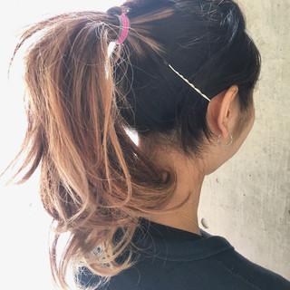 ハーフアップ ロング ストリート ハイライト ヘアスタイルや髪型の写真・画像